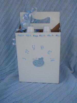Boys Glass Baby Bottle Gift Set- Blue