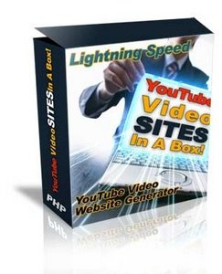 YouTube Video Sites Generator In A Box PRO Edition.