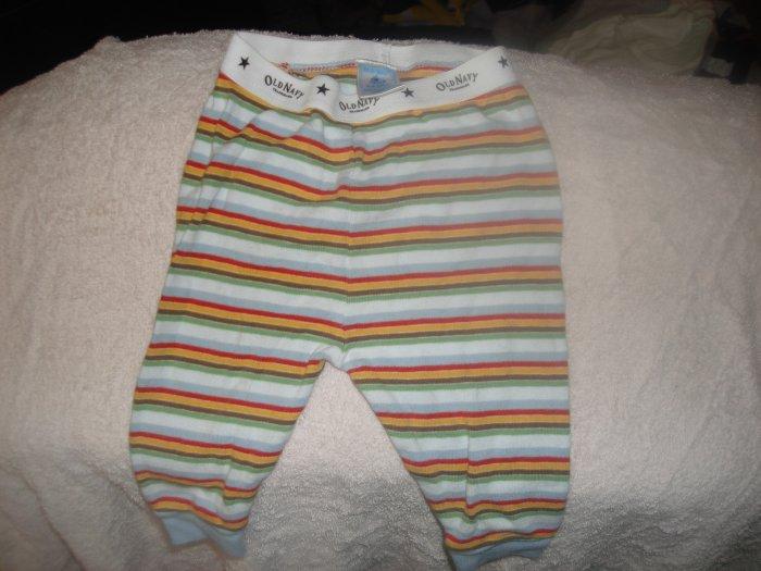 3-6M Old Navy infant boy's striped stretchy pants