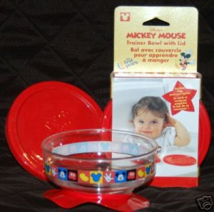 Mickey Mouse Trainer Suction Bowl with Lid