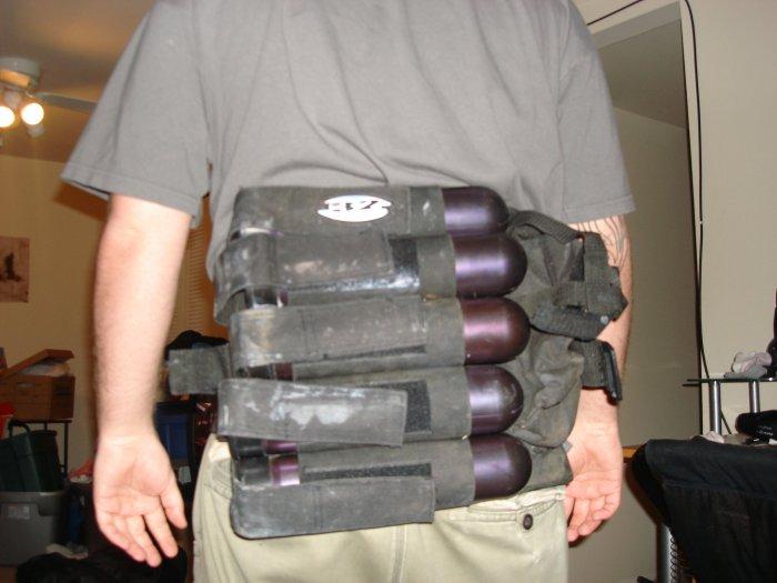 paintball back holster pod holder