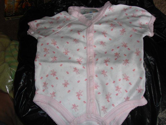 Pink infant girls' Bear onesie by Specialty Kids 6-9m