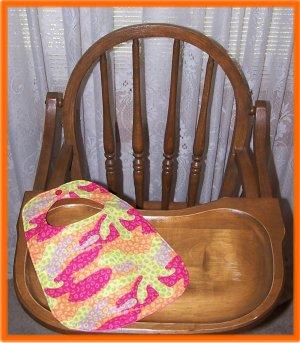 Toddler Girl Bib Colorful Splotches