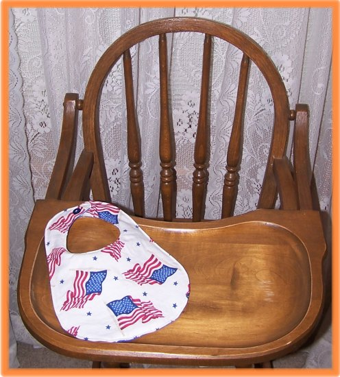 Baby Bib American Flags on White Sale Price