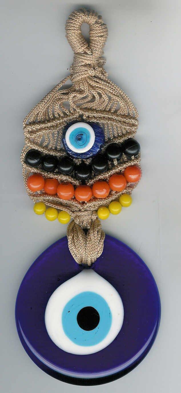 Macreme evil eye ..Door-wall hanger.