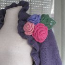 Hand knitted .Wear Purple shrug,be happy..