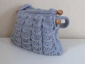 Hand knitted Grey bag.Handmade