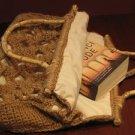 Crocheted  bag.Mustard,latte brown .Handmade