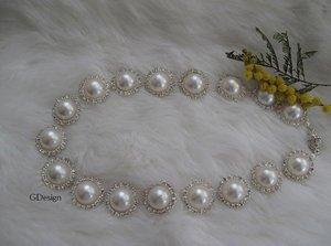 Bridal wedding rhinestone -ivory pearl necklace,earring set.Bridal,bridesmaids