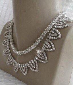 New.Bridal wedding rhinestone necklace..For Brides,Bridesmaids,wedding season