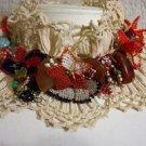 Crochet-needle work,oya necklace...agate,turquoise