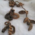 Crocheted brown flower.lariat