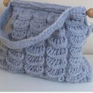 Knitted  grey bag.crochet,fashion,bag.