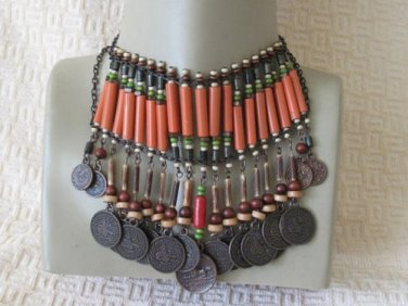 Authentic tribal Wooden beads.necklace