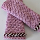 Knitted pink mohair fingerles gloves.s,m,l sizes.OOAK