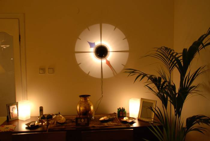 WALL CLOCK.shadow wall MOUNTED  PROJECTION LIGHT