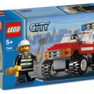 Lego City Fire Car 7241 (2007) Hard To Find! New Sealed Set!