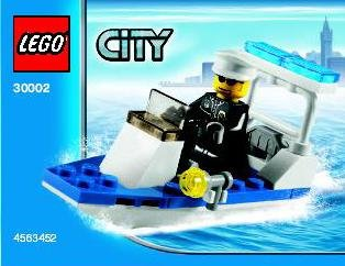 Lego City Police Boat 30002 (2010) New in sealed Polybag!