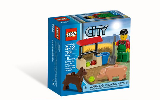 Lego City Farmer 7566 (2010) New! Sealed!