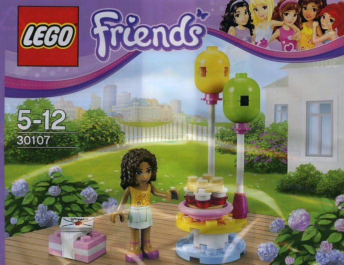Lego Friends Andrea's Birthday Party 30107 (2013) New Factory Sealed Set!