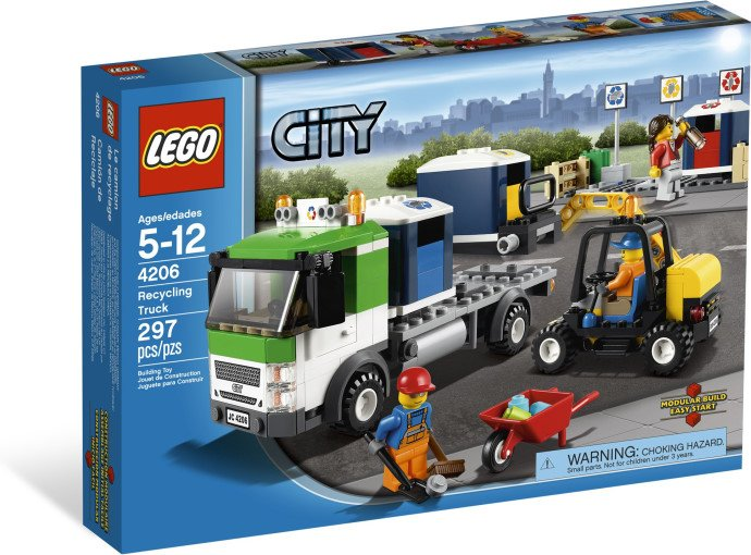 Lego City Recycling Truck 4206 (2012) New! Sealed!
