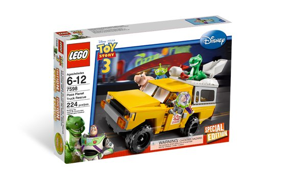Lego Toy Story Pizza Planet Truck Rescue 7598 (2010) New Factory Sealed Set!
