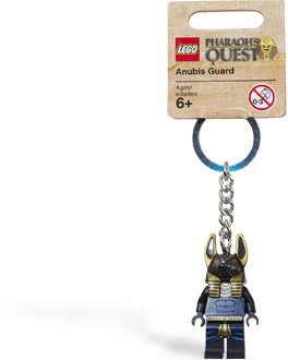 Lego Pharaoh's Quest Anubis Guard Jackal Keychain 853167 (2011) New with Tag!