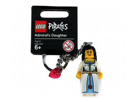 Lego Pirates Admiral's Daughter Keychain 852711 (2009) New with tag!
