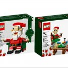 Lego Holiday Santa 40206 & Little Elf Helpers 40205 (2016) New! Sealed!