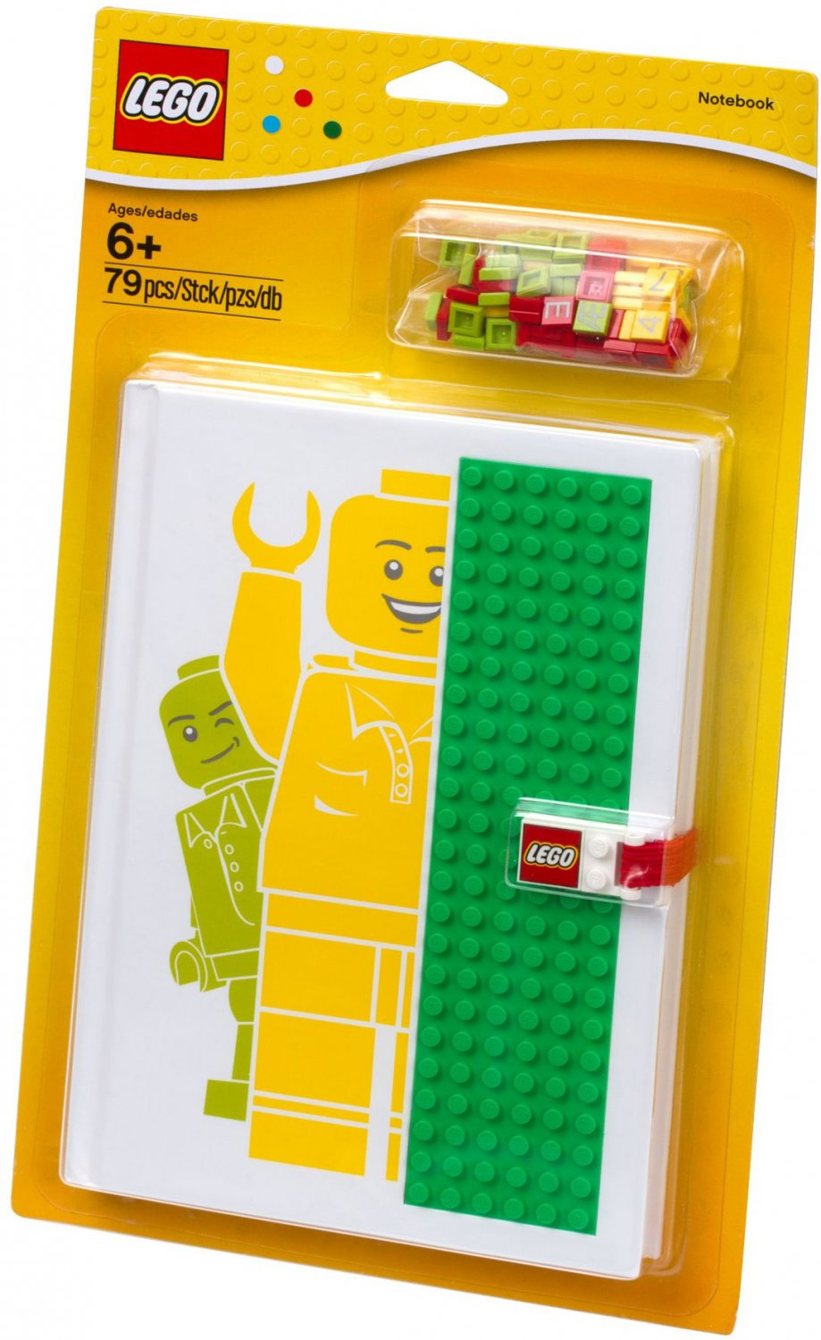 Lego Notebook with Studs 850686 (2013) New in Sealed Blister Pack!