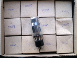 6N13S = ECC230=6AS7G Svetlana Tubes Lot of 12 IN BOXES