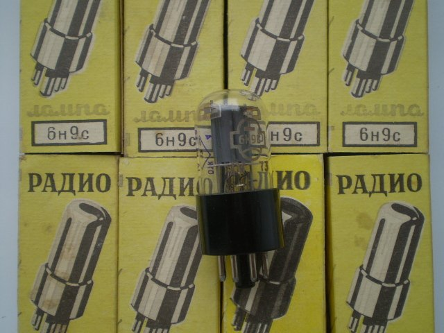 6N9S / 6SL7GT / 6SL7 / TUBE Lot of 8 Russian Tubes