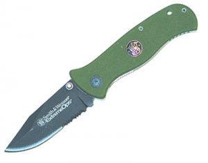 Smith & Wesson Knives / Extreme Ops, G-10 Handle (Green)