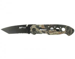 M-Tech Knives / Camouflage Folder - Ti-treated Blade