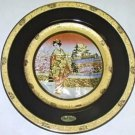 "Geisha in front of Golden Palace / 10"" Gift Plate (24K Gold)"