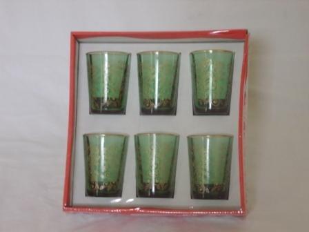 6 traditional moroccan tea glasses