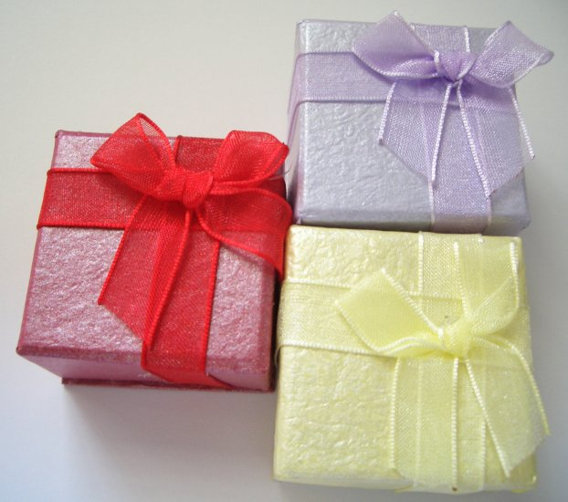 Small Gift Boxes - Satin Ribbon