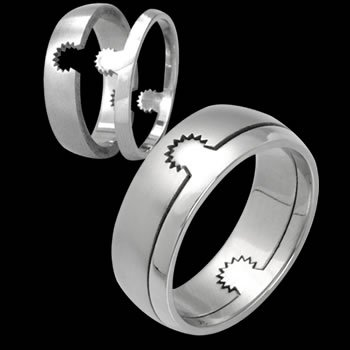 Puzzle Ring with Spur like Design (RSSO-326)