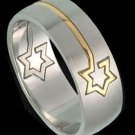 Puzzle Ring with Star of David Gold Plated (RSSG-335)