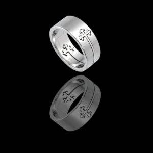 Puzzle Ring with Cross (RSSO-303)
