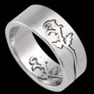 Puzzle Ring with Rose Design (RSSO-315)