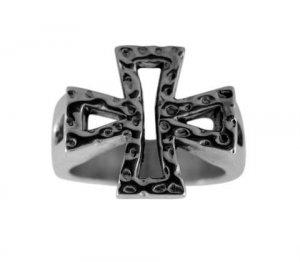Iron Cross Pewter Ring (PRN-54)