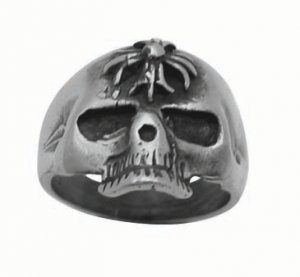 Pewter Ring with Skull (PPR-27)