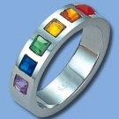 Stainless Steel Gay Pride Rings (ZASGR-2)