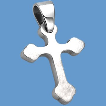Stainless Steel Cross Pendant (NSS-27-ss)