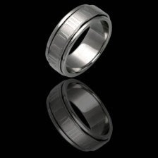 Stainless Steel Spinning Ring - Roman Numerals Design (RSST-3)
