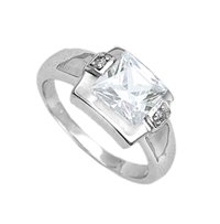 Sterling Silver Ring with CZ stone (231096)