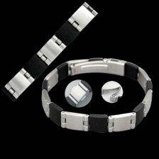 Stainless Steel/Rubber Bracelet (BSSR-4)