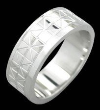 Stainless Steel Band With Etched Design (RSLW-14)