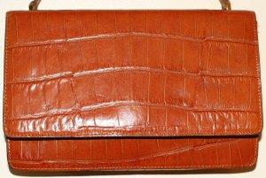 Cognac Leather Purse From Adrienne Vittadini
